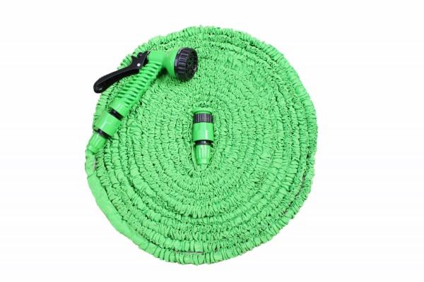 Magischer dehnbarer Wasserschlauch 10 bis 30m mit Gartenbrause in grün oder blau
