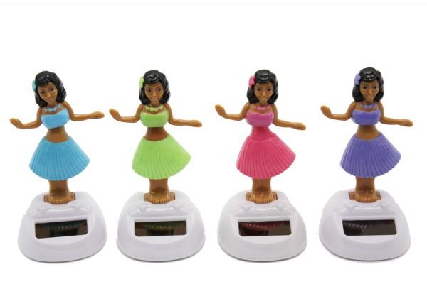 Solar wackel Figuren,Tanzende Solarfigur Hula Girl h10,5cm