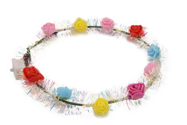 Led Blumenkranz, Leuchtender Brautkranz, Haarschmuck Festival Blumenkranz,