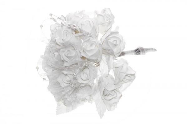 Glitzernder weißer Rosenstraß