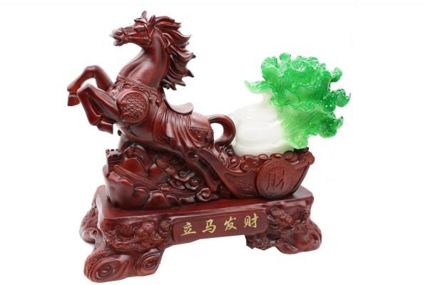 Dekofigur Glückspferd mit Cai/Chinakohl